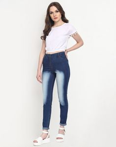 0436b9f7ed Buy Stalkbuylove Blue Washed Denim Jeans online