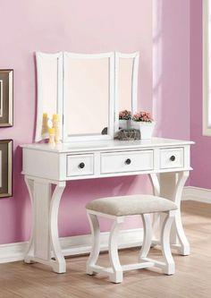 Eveline Vanity Set with Mirror