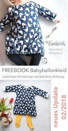 Freebook Ballonkleid f�r Babys und Kinder (Gr. 62 - 110) Lila wie Liebe