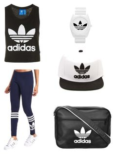 """Adidas"" by sabypolivore ❤ liked on Polyvore featuring adidas Originals, Topshop and adidas"