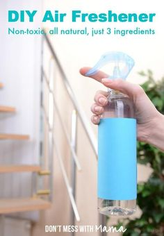 DIY Air Freshener - Did you know conventional air fresheners are loaded with toxic chemicals that can cause respiratory issues? Make your own that's more effective and way cheaper - DontMesswithMama.com