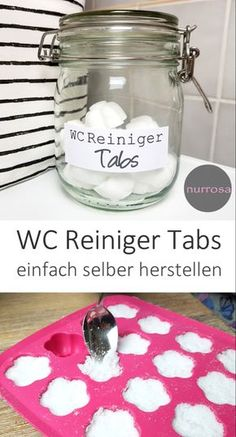 WC Reiniger Tabs DIY Anleitung WC Reiniger Tabs ganz einfach selber selber mache… Toilet cleaner tabs DIY instructions easily make your own plastic-free tabs yourself Diy Home Cleaning, Cleaning Hacks, Toilet Cleaning, Wc Tabs, Wc Decoration, Diy Home Crafts, Diy Hacks, Smudge Sticks, Clean House