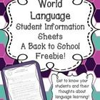 A back to school freebie! Start the year off right by getting to know more about your students. This handout asks basic student information questio...