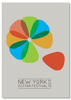 New York Guitar Festival 2013 Postcard | Student work