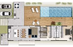 Pool House Plans, Sims House Plans, House Layout Plans, Small House Plans, House Layouts, Container Home Designs, Flat House Design, Modern House Design, Home Building Design