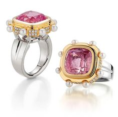 Bretterbauer Juweliere - Unique - Turmalin-Pink Ring Cufflinks, Gold, Jewels, Accessories, Fashion, Color Stone, Beads, Metal, Ring