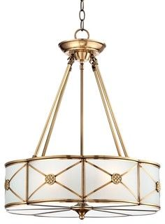 Volume international 15 12 in w polished brass pendant light with traditional possini mirna frosted glass 19 wide brass pendant light traditional pendant lighting aloadofball Images