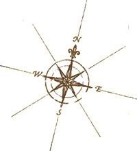 Compass for tattoo - like the simplicity of it.