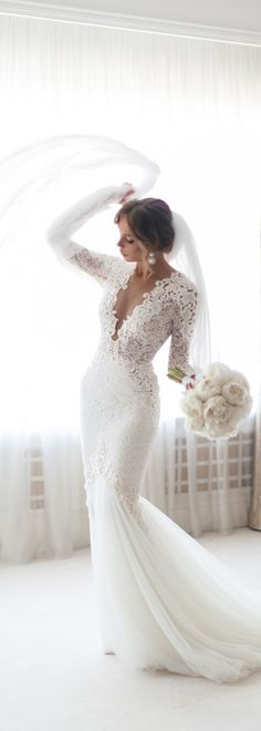 Mermaid Wedding Dress lace wedding gowns sexy wedding dresses Engagement and Hochzeitskleid Hochzeitskleid Order Wedding Invitations Online Engagement and Hochzeitskleid 2019 White Lace Wedding Dress, Lace Mermaid Wedding Dress, Long Wedding Dresses, Long Sleeve Wedding, Wedding Dress Sleeves, Mermaid Dresses, Lace Wedding Gowns, Brides Dresses Lace, Plunge Neckline Wedding Dress