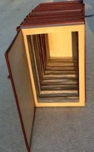 Entire Encyclopedia Set Converted to Secret Compartment - Finally something Mom can do with those books!