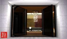 The Sublime Double Pivoting Modern Entrance Door Design