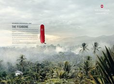 Print advertisment created by Leo Burnett, Switzerland for Victorinox, within the category: Personal Accessories.