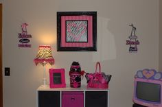 Little Miss Diva's Room, This is my daughters room that I designed!  I just love the pink, black, and white theme.  My daughter is my one and only and I want her to feel like the princess we all know she is!  <3  I created this space by purchasing items, decor, and furniture at yard sales, consignment shops, Craigslist, Dollar General, Family Dollar, Wal-Mart, and Khols. I spent around $1,000 total!!! , Girls' Rooms Design