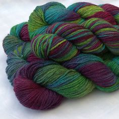 Archie Aran is a luxurious yarn, that is silky, soft and supple. Hand dyed our 100% British yarn is bright and vibrant, an excellent addition to any yarn stash!