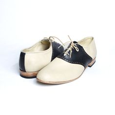 1950's vintage inspired saddle shoes for men or women - FREE WORLDWIDE SHIPPING. $225.00, via Etsy.