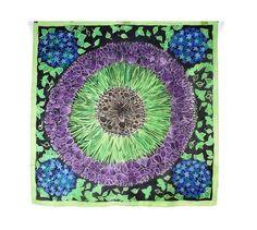 Mandala batik tapestry Large scarf. Nature by SilkForPassion