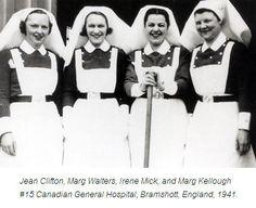Nurses in England in 1941.