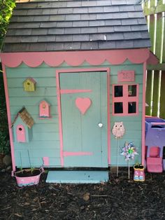Cuprinol seagrass and honeysuckle playhouse wendyhouse birdhouse Cuprinol, Mermaid Bedroom, Wendy House, Birdhouse, Play Houses, Sheds, Outdoor Structures, Decoration, Garden