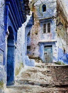 Blue houses, Morocco