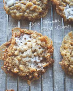 Rice Krispies Treat Cookies / The Kitchy Kitchen Köstliche Desserts, Delicious Desserts, Dessert Recipes, Yummy Food, Rice Recipes, Popcorn Recipes, Recipies, Carrot Recipes, Ham Recipes
