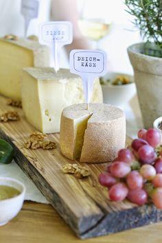 Printables für Käse und Wein Party (www.meinlykkelig.blogspot.com)
