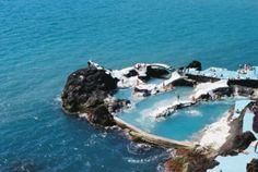 Amazing tidal pools next to the sea