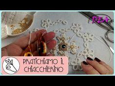 Chiacchierino a Navette - Cerchio, Split Ring, Pippiolino, legature e decorazione - - YouTube