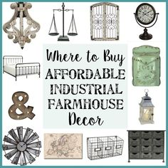 Where to Buy Affordable Industrial Farmhouse Decor (plus how to get even bigger discounts) - Bless'er House