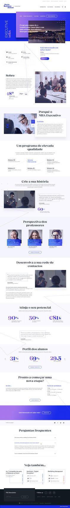 Porto Business School MBA Executive Business School, Art Director, Ui Design, Digital, Porto, User Interface Design