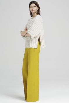 Adam Lippes Resort 2016 Fashion Show Knitwear Fashion, Knit Fashion, Look Fashion, Fashion Show, Fashion Design, Fashion Trends, Fashion Spring, Look 2017, New Pant