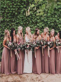 10d3ddb5e7a 12 Most inspiring Mauve Bridesmaid Dresses images in 2019
