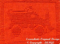 Knitting Cloth Pattern  SNOW PLOW  Instant Download by ezcareknits, $3.00