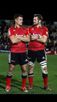 Dan Carter and Richie McCaw played their last Crusaders game 8/5/2015