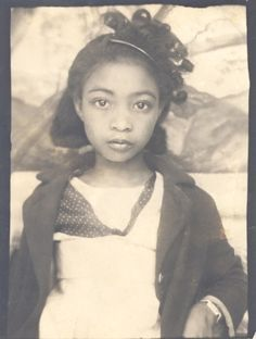 Photobooth Portrait of a beautiful African American girl, ca 1940                                                                                                                                                                                 More