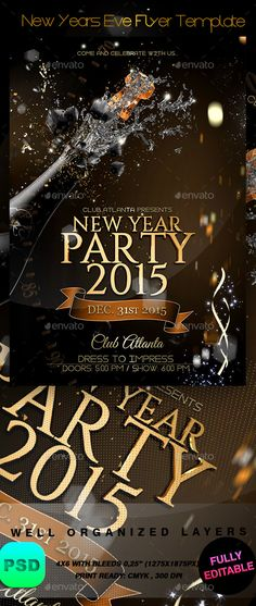New Year Brochure Template New Year Flyer Template New Year Flyer