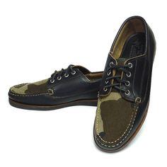 Eastland × Mark McNairy Falmouth イーストランド マーク・マクナイリー カモフラージュ 迷彩 キャンプモカシン 革靴【$400】[003]