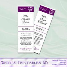Wedding Place Cards 2x6 Photo Booth Frame by WeddingPrintablesDiy, $8.00