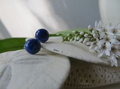 Lapis Lazuli earrings Lapis earrings Sterling by Inspiredby10, $19.00
