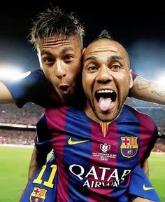 Dani Alves  & Neymar