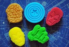 5 x Superhero Soap  Avengers Inspired soap by NerdySoap on Etsy