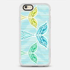 Mermaids and Stripes - protective iPhone 6 phone case in Clear and Clear by @lisaargy | @casetify