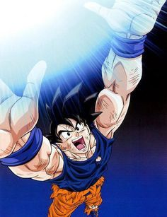 """Goku uses spirit bomb """"Genkidama"""""""