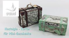 Nostalgischer Reisekoffer als Verpackung mit Stampin' Up!