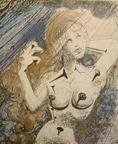 Marilyn Monroe by Salvador Dali. Copper etching | The Argillet Collection http://photos.oregonlive.com/4450/gallery/salvador_dali_at_lawrence_gallery/index.html#/1