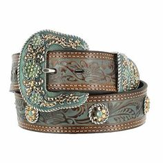 Nocona Women's Tooled Concho Belt