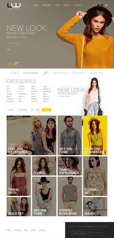 Webdesign | LOOKWAVE - Site Design For Lookbook on Behance