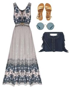 """""""Untitled #484"""" by wrigannabelle on Polyvore featuring Ray-Ban, Billabong and Maje"""