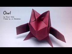 How to make an origami Owl Created by Davor Vinko (http://www.flickr.com/photos/davorigami ) Presented here by Jo Nakashima with permission of the creator Th...