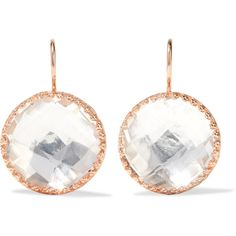 Olivia Button Rose Gold-dipped Topaz Earrings - one size Larkspur & Hawk Z3DhX