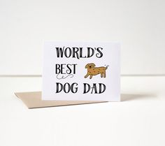 If your dad is a dog lover, this card is perfect.